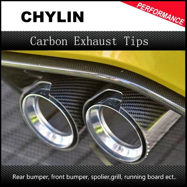 2шт высокое качество авто углеродного волокна выхлопной конец советы для BMW 2.5 в 3.5 Out бесплатная доставка