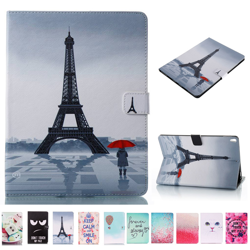 3D Printing PU Leather Case For Samsung Galaxy Tab A 9.7 T550 T555 SM-T555 Smart Cover For Tab A 9.7 Inch Tablet Case+Film+Pen