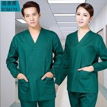 Больницы disfraz с длинными рукавами хлопок платья стирать одежду Спецодежда медицинская одежда wo Для Мужчин's изоляции платье Для мужчин Сплит пальто+ брюки для девочек