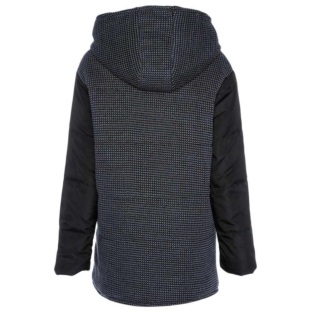 Pocket La Capuchon Mode Manches Black Kenancy À Vestes Chaud Femme Parkas Spliced Taille Plus Femmes Manteaux Longues Hiver 2018 wqw87g