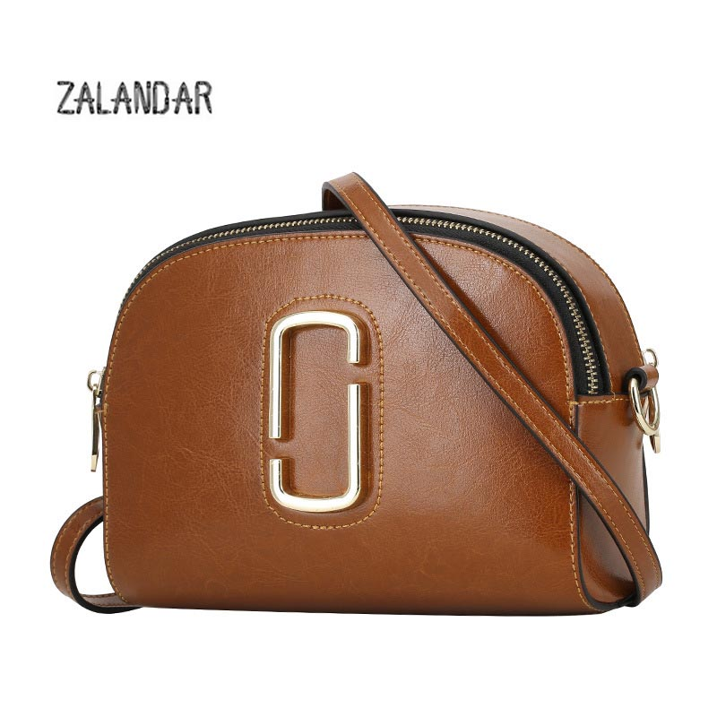 ФОТО ZALANDAR Genuine leather crossbody bag for women casual soft cover messenger bags solid saddle tassel high quality