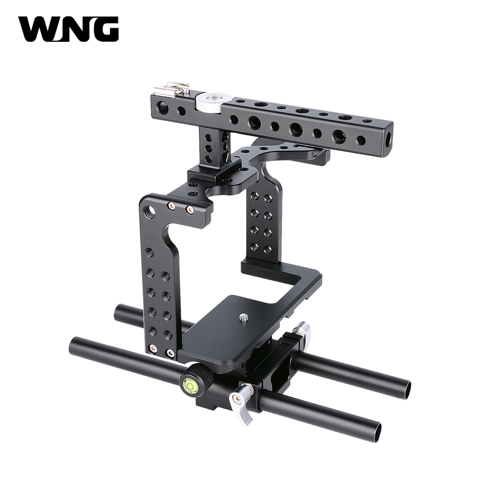 цена на Small Rig with Top Handle DSLR Camera Cage for GH5 Camera Rig