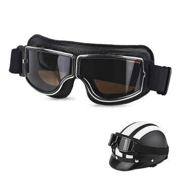 562e55c107 Plegable Retro gafas de motocicleta piloto aviador Cruiser Vintage Moto  Biker gafas de ciclismo gafas Scooter gafas