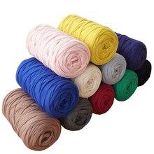 400g/lot 2pcs Knit Wool DIY Hand Knitting for Rugs Woven Thread Elastic Cotton Cloth Yarn Crocheted Basket Rug Blanket Hat