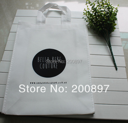 Custom logo printed non woven storaging bag 38*30*10cm 500pcs lot