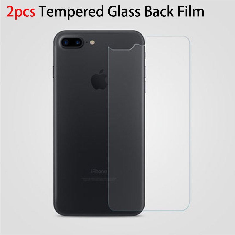 POMER 2pcs For iPhone 7 7plus 6 6S plus Tempered Glass Back Film 9H Anti shock back Screen Protector Back cover protective film