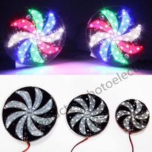 12V RGBW flash LED wheels rotating wind lamp for car electric car bar square