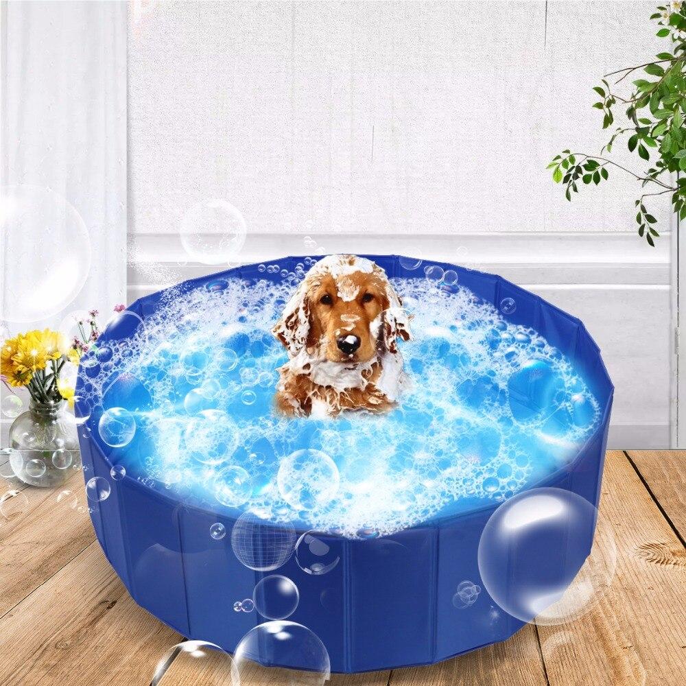 Europe Stock Big Foldable Pet Swimming Paddling Pool DogPortable Cooling Washing Bathing Tub For Children Or Kids Play
