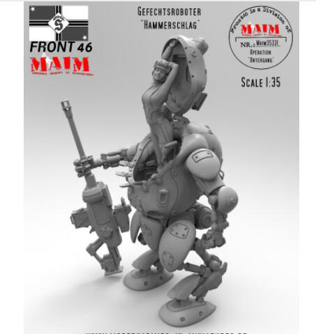 1/35 Gefechtsroboter Fantasy Girl With Machine Armor   Toy Resin Model Miniature Kit Unassembly Unpainted