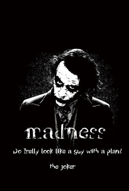 D936 Batman Joker Motivational Quotes Silk Poster Art Print Canvas