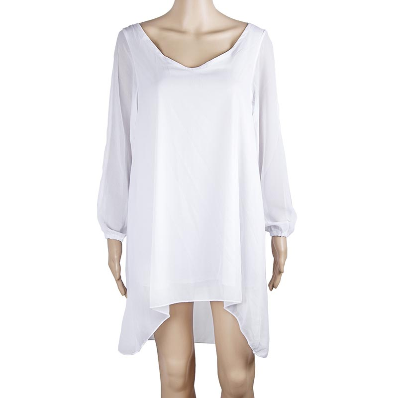 547cfe53b338c US $16.19 |Ace Roman V Neck Women Dress Summer Style Chiffon Dresses  Vestidos Women's Blue Beach Dress Loose A line Vestidos HD1967-in Dresses  from ...