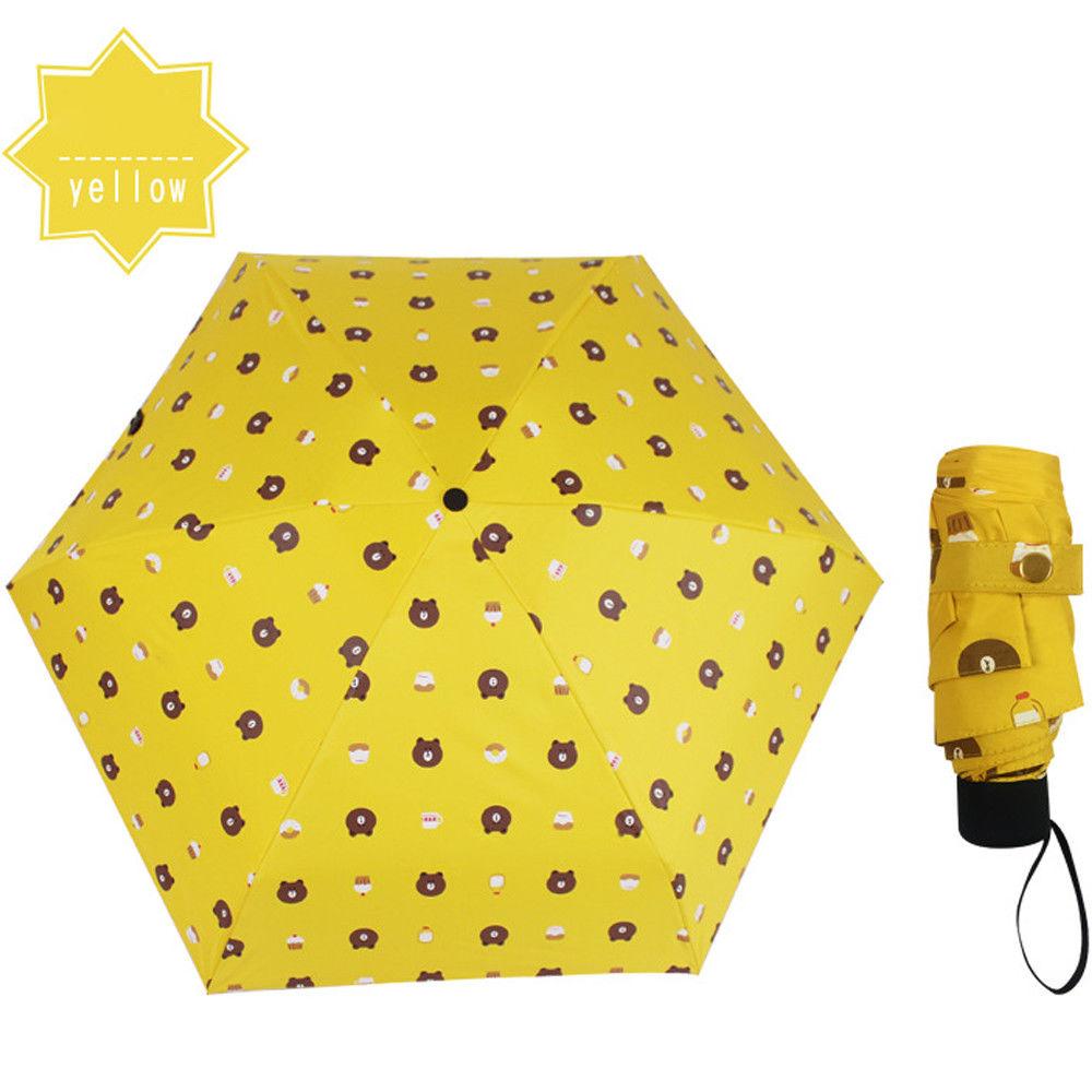 62f06e12ae2d9 Mini Pocket 5 Folding Compact Princess Anti UV Sun Rain Umbrella Parasol  Gifts Cute Bear Plaid Children Adult Umbrellas-in Umbrellas from Home &  Garden on ...