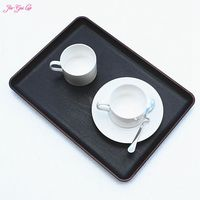 Rectangular Plastic Tray Melamine Plate Snack Plate Room European Style Wood Slippery Tea Tray Glass Tray