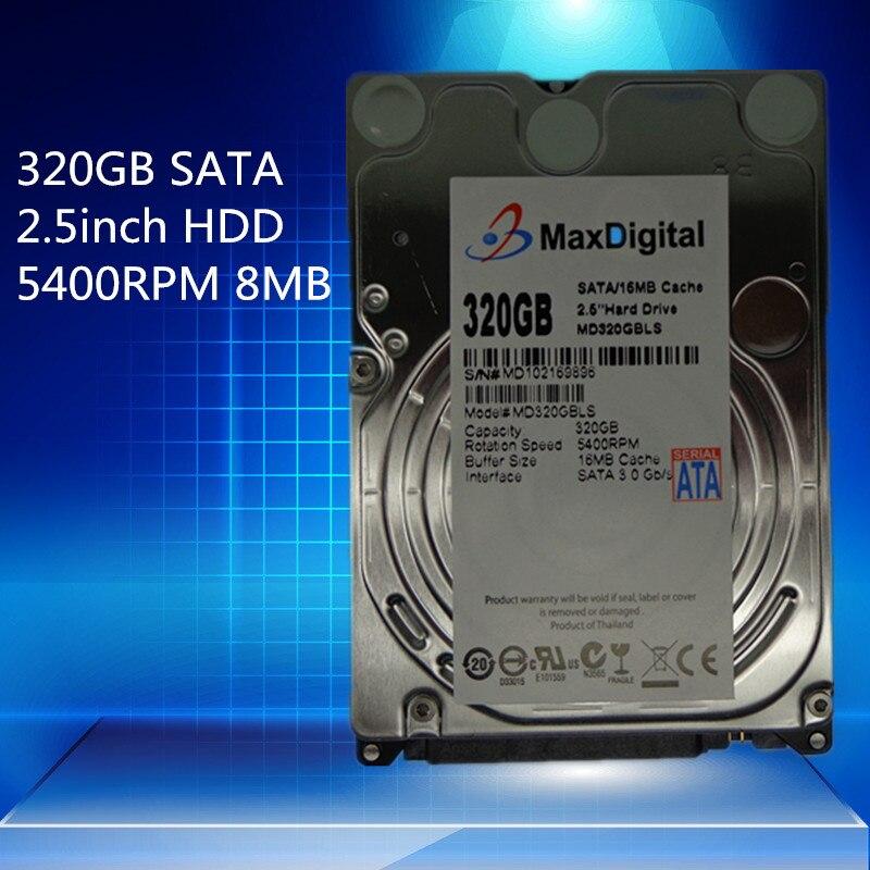 2.5inch HDD 320GB 5400Rpm 8M Buff SATA Internal Hard Disk Drive For Laptop Notebook MaxDigital/MD320GB SATA 2.5inch hgst travelstar z5k500 hts545050a7e380 500gb 5400 rpm 8mb cache sata 3 0gb s 2 5 internal notebook hard drive bare drive