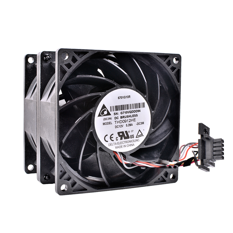 Brand new original DELTA THD0912HE 92x92x38mm DC12V 5.28A Powerful booster server cooling fan