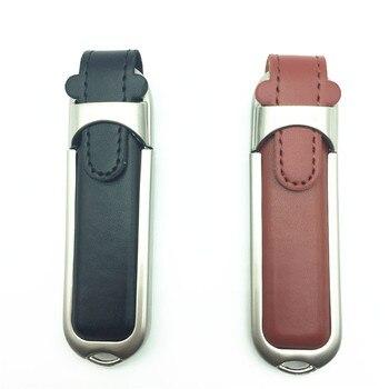 100% real capacity PU leather 32gb 64gb 8gb 16gb usb 2.0 flash driver 64gb pen drive u disk pendrive flash drive Top Quality