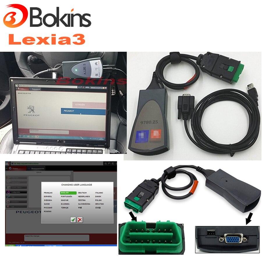 Цена за 2017 Вновь горячий продавать lexia 3 пп 2000 Для citroen/peugeot диагностический инструмент Лексия-3