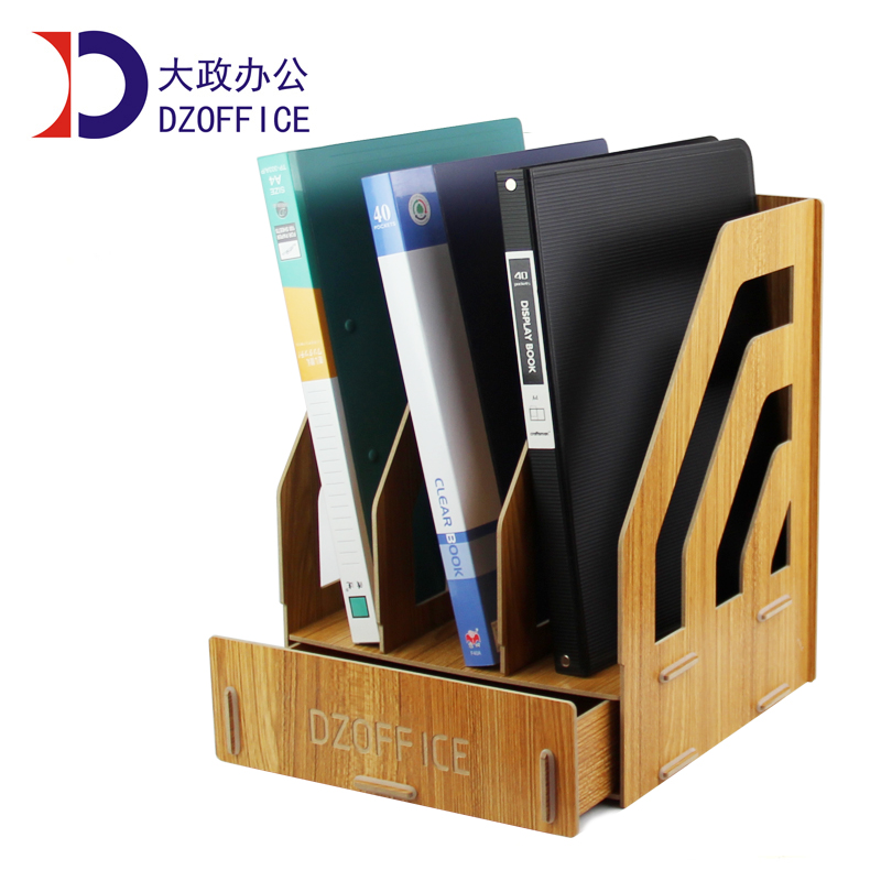Free shipping wood file folders holder for office supplies a4 drawer rack box bookshelf holder for file folders manager folders with 4000mah mobile power multifunction cument holder manager holders office supply work accessories