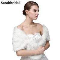 Free Shipping Half Sleeve Women Winter Wedding Faux Fur Jacket Bolero Wraps Bridal Coat Wedding Bolero
