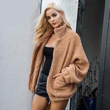 Elegante Faux Fur Coat mujeres 2018 Otoño Invierno caliente suave con cremallera  Mujer chaqueta de piel abrigo de felpa chaqueta. 47e0a1dd8c6d