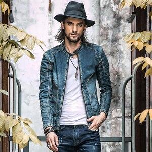 Image 1 - Giacca di Denim di cotone Degli Uomini di Casual Jeans Giubbotti Più Il Formato Mens di Alta Qualità Dellannata Del Denim Cappotti di Modo di Autunno Uomo Abbigliamento A1549
