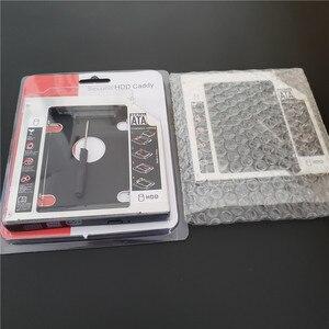 """Image 5 - العالمي الألومنيوم 2nd HDD العلبة 12.7 مللي متر SATA III ل 2.5 """"12.5 مللي متر 9.5 مللي متر 9 مللي متر 7 مللي متر SSD HDD حالة الضميمة + المزدوج LED لأجهزة الكمبيوتر المحمول الغريب"""