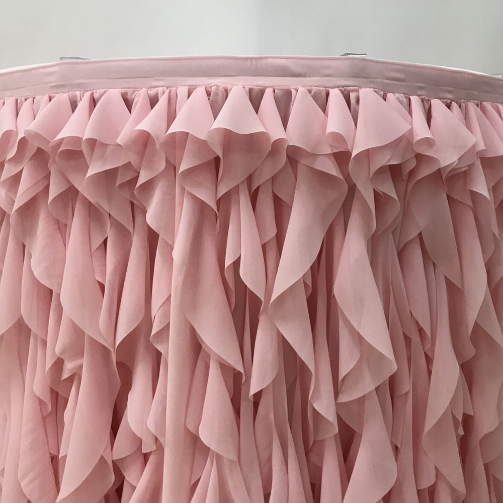 Superbe Free Shipping 10 Ft L Willow Ruched Table Skirt Chiffon Ruffle Table Skirt  New Design Luxury Ruffles Table Skirtting In Table Skirts From Home U0026  Garden On ...