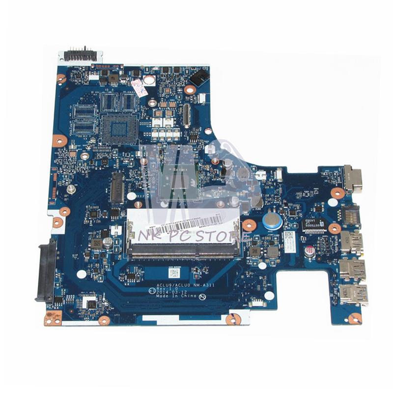 BRAND NEW ACLU9 / ACLU0 NM-A311 MAIN BOARD For Lenovo G50 G50-30 Laptop Motherboard DDR3 with N3530 CPU Onboard original main board fit for lenovo g505 laptop motherboard vawga gb la 9911p ddr3 hdmi usb3 0 a6 5200 cpu 2gb video card