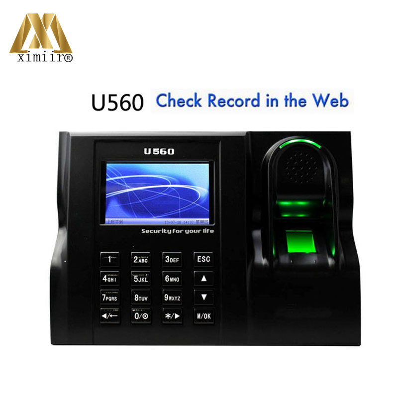 3inch Color Screen TCP/IP  Fingerprint Time Attendance Linux System Time Clock Optical Sensor Time Recorder U560