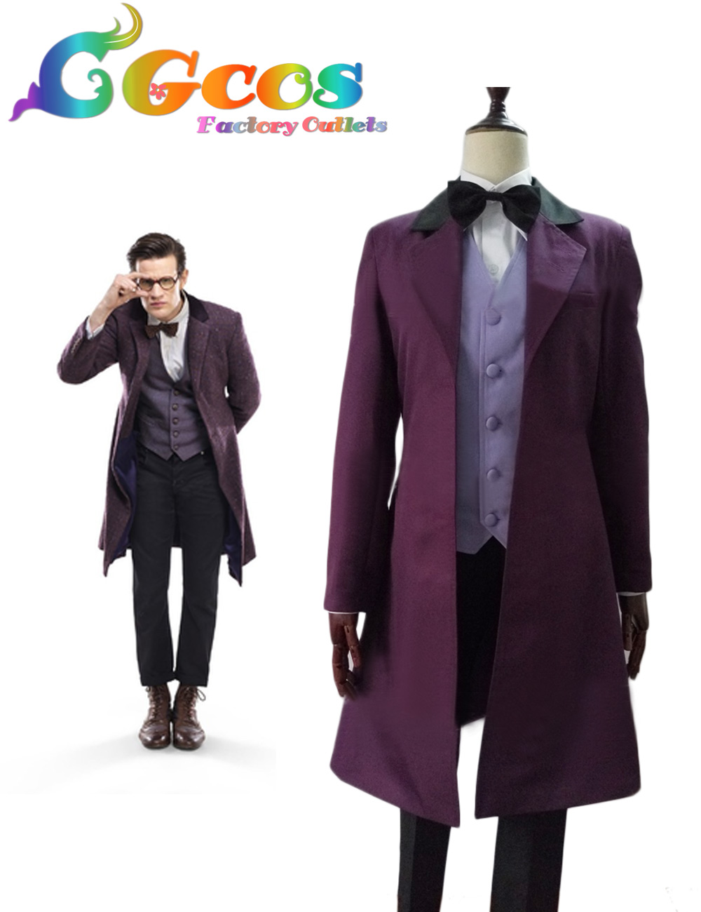 CGCOS Free Shipping Cosplay Costume Doctor Who Suit Full Set Uniform New in Stock Halloween Christmas Party cgcos free shipping cosplay costume hetalia axis powers scotland uniform new in stock halloween christmas party