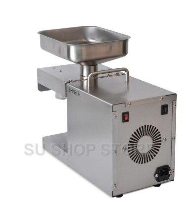 Machine à huile de presse à froid automatique 110 V/220 V, machine de presse à froid d'huile, extracteur d'huile de graines de tournesol, presse à huile 1500W - 3