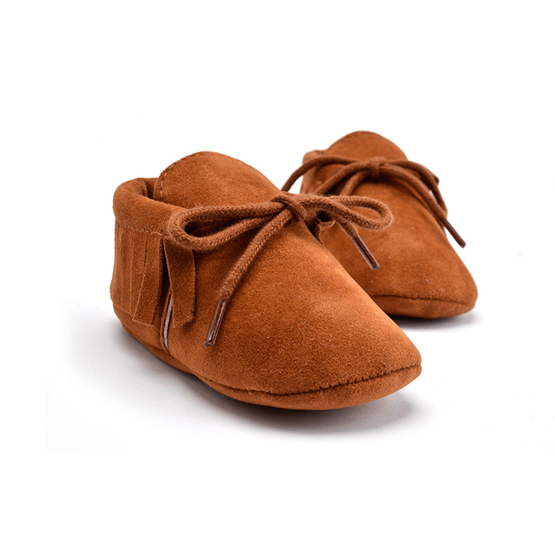 Baby Moccasins Soft Moccs Shoes Newborn Boy Girl Bebe Fringe Soft Soled Non-slip Footwear Infant Crib Shoes