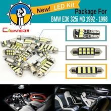Cawanerl Car 2835 SMD Интерьер купола Географические карты магистрали Номерные знаки для мотоциклов свет canbus led комплект Вышивка Крестом Пакет белый для BMW E36 325i m3 1992-1998