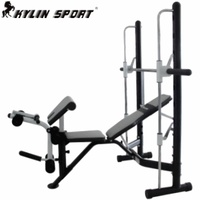 Professional sports Multifunctional 5762 weightlifting bed rack smith bench stand barbell rack barbell set