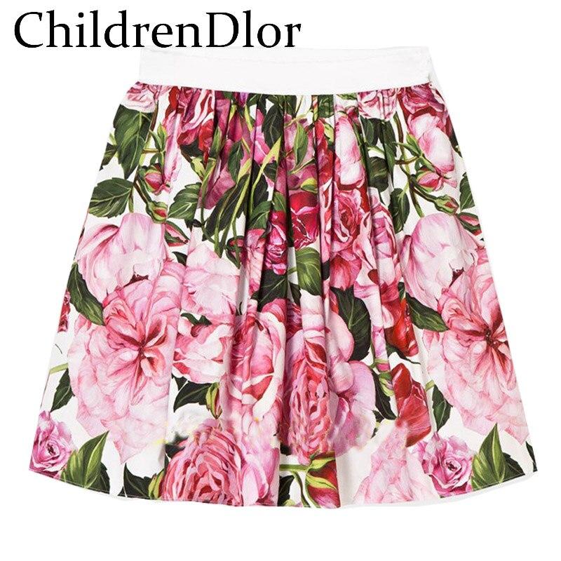 ChildrenDlor Girls Tutu Dress Summer 2017 Baby Girls Party Dress Printing Floral Dress Baby Girl Dresses Children Baby Clothing childrendlor baby brocade floral print