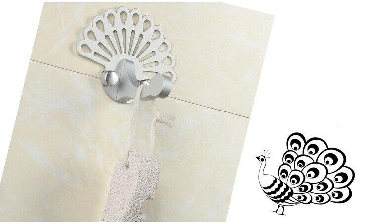 Творчески Алюминий сплав Крючки серебряные одежды сумка Кепки Крючки стены одинарным крючком дома магазин украшения одинарным крючком