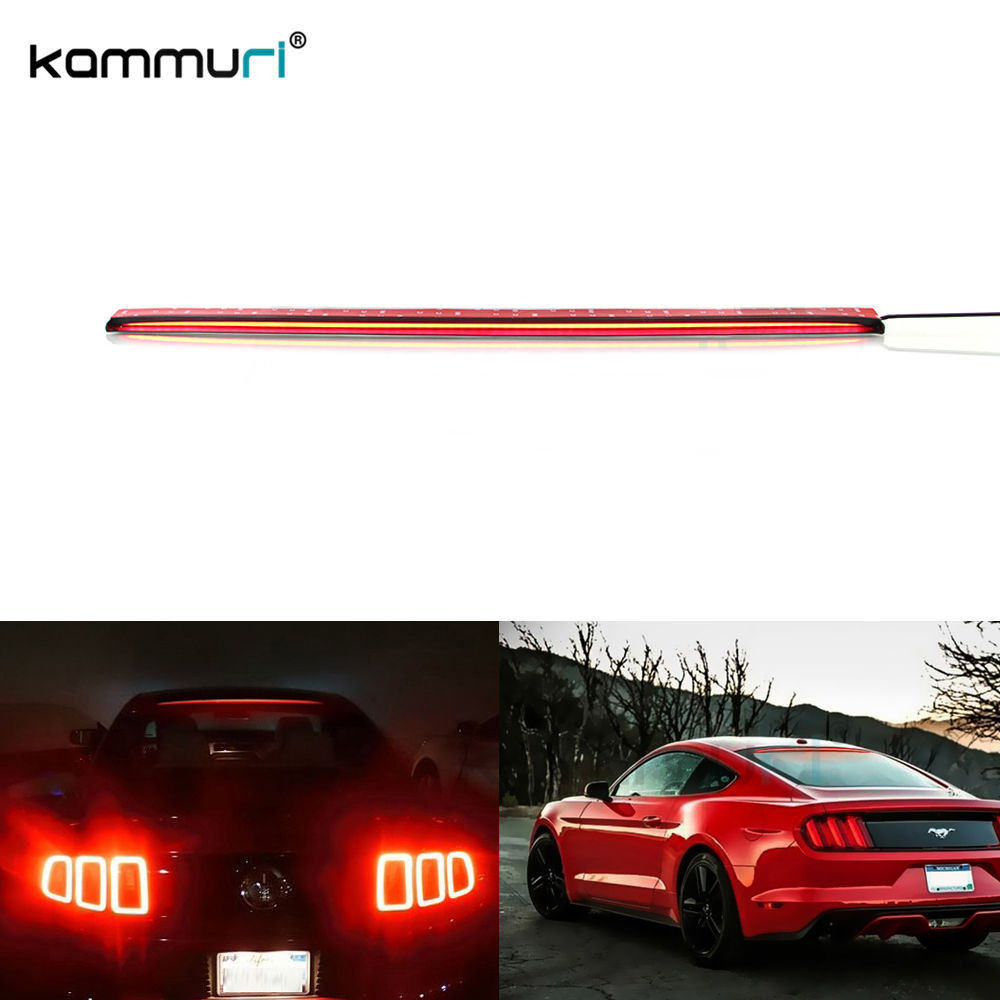 Car LED bar Brake Light For Ford Mustang(Mustang) Roofline Third 36-Inch Kit Above hight Rear Windshield Car-styling KAMMURI майка print bar ford mustang shelby gt500 [шредер]