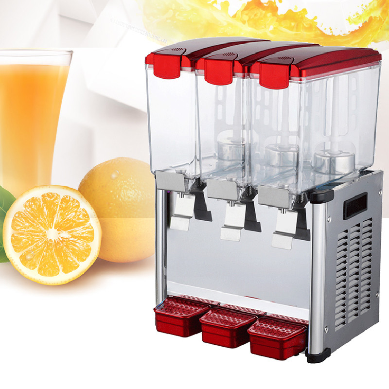 Jamielin 9L*3 Milk Tea Shop Three Cylinder Cold Drink Machine Commercial Electric Cold And Hot Fruit Juice Dispenser Price