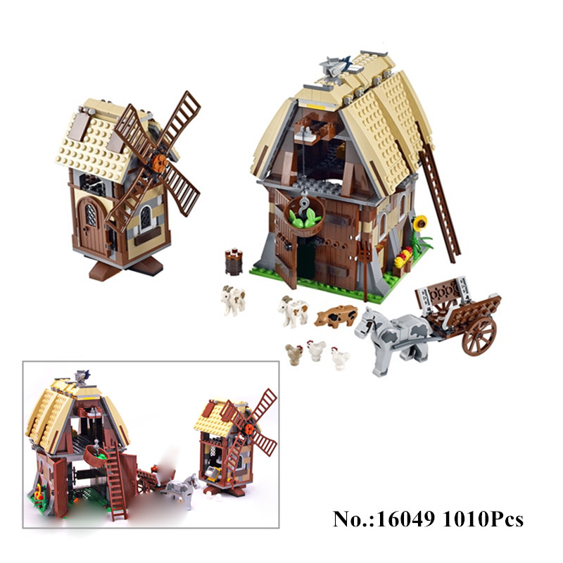 IN STOCK H&HXY 16049 1010Pcs Creative Series The Mill Village Raid Set lepin Building Blocks Bricks Educational Toy for DIY Gift 6 in 1 solar toy diy robots plane educational kid gift creative