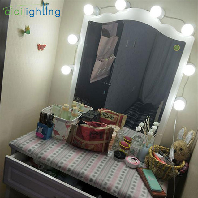 Excellent Us 9 99 Hollywood Style Dimmable Vanity Lights For Mirror With Plug Diy Plug In Vanity Lighting For Makeup Dressing Table With Dimmer In Vanity Home Remodeling Inspirations Propsscottssportslandcom