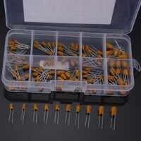 100pcs Capacitors High Precision 16V 10 Value Tantalum Capacitor Assorted Kit Box Assorstment Capacitors 13 x 6.5 x 2cm