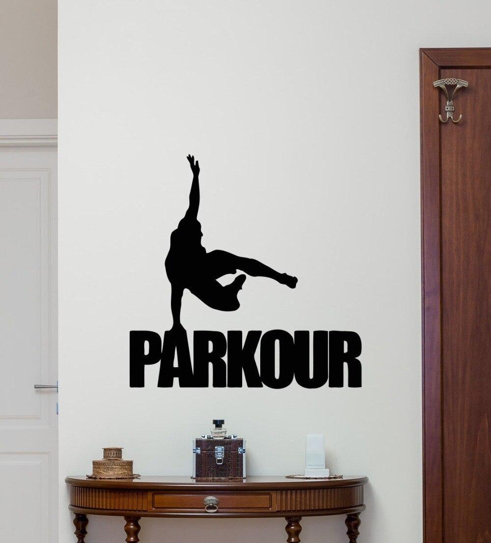 Parkour Wall Decal Extreme Sport Vinyl Sticker Gym Poster Decor Art MuralChina Mainland