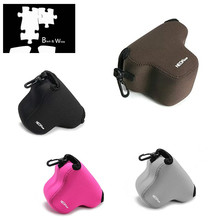 Portable Neoprene Soft Camera Case Cover for Olympus E PL7 EPL7 with 14 42mm Lens Only Digital Camera