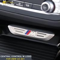 Gelinsi For 2018 BMW X3 G01 Car central control M logo cover frame sticker trim accessories