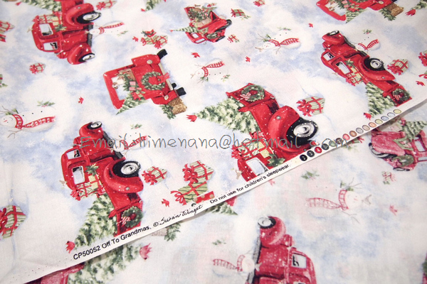 Free Shipping* jt073 1 Yard Cotton Woven Fabric Red Pick Up