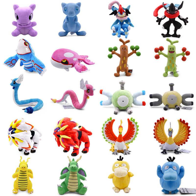 Boneco de pelúcia de desenho animado de quioto, anime brilhante solgaleo, dragonair, ho-oh, magnemite, brinquedo de desenho animado