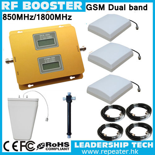 RF 1800mhz/850mhz Dual Band LCD 3G LCD Mobile Phones Repeaters GSM1800mhz CDMA800mhz Dual Band Cell Phone Signal Booster