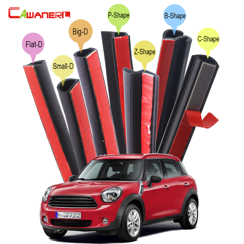 Cawanerl Rubber Car Seal Sealing Strip Kit Noise Insulation Seal Edge Trim Weatherstrip Dust Proof For Mini Clubman Countryman цена