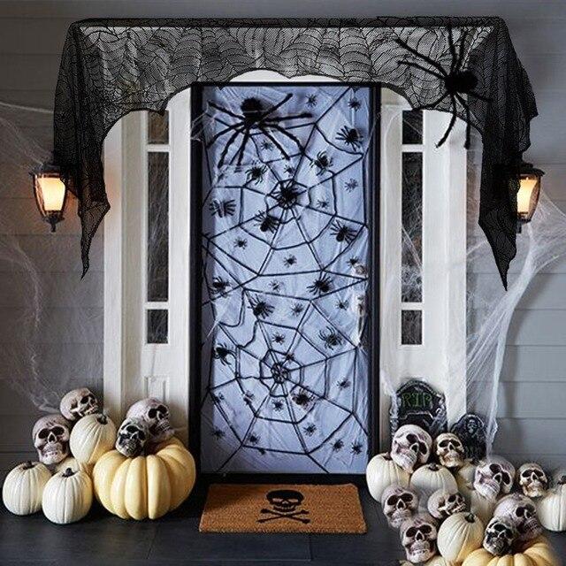 Aliexpress.com : Buy Black Spider Fireplace Mantel Scarf