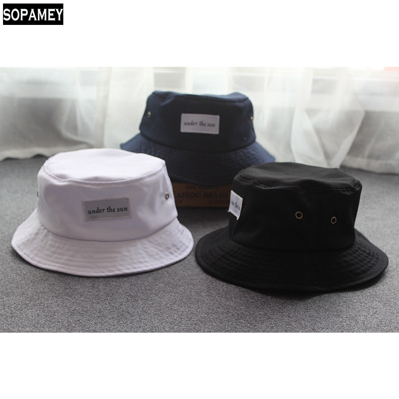 ebd709d2389 Japanese style Solid color bucket hats stylish casual wild women men caps  summer street sun shading ...